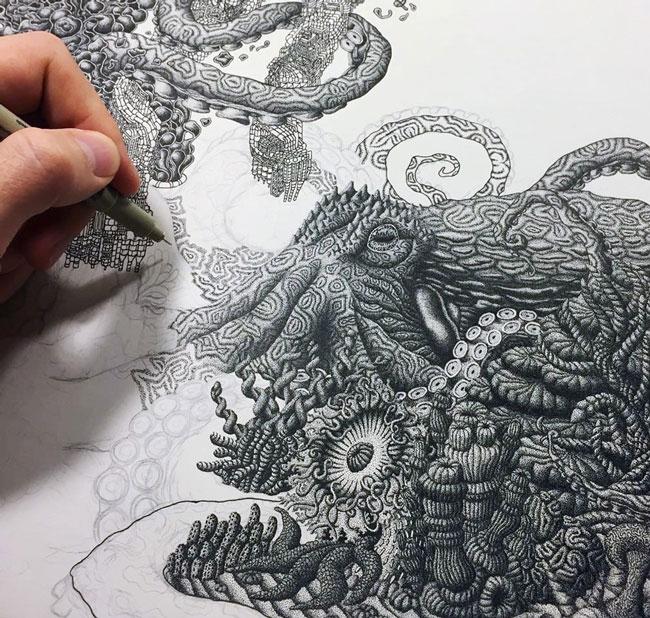 نقاشی نقطه ای - نقاشی با میلیون ها نقطه