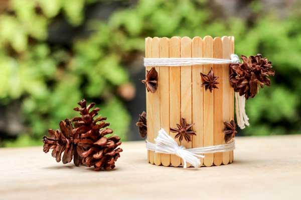 ایده هایی برای ساخت جا مدادی با چوب بستنی