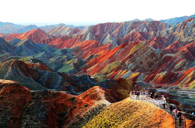 زمینهای Zhangye Danxia، گانسو، چین