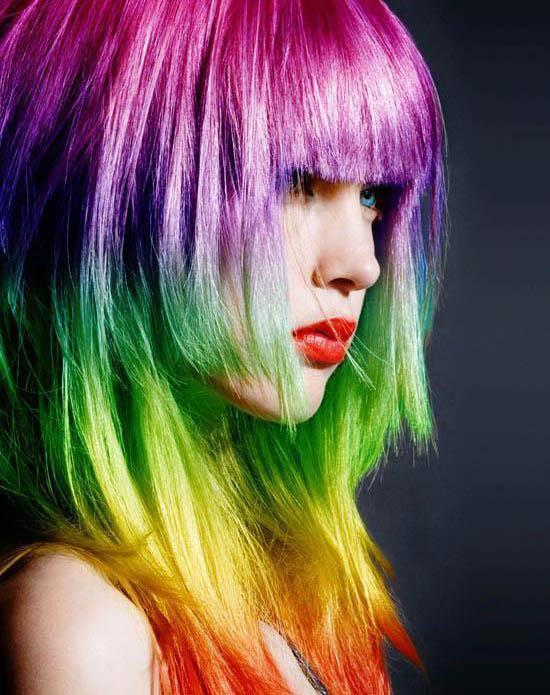 مدل موهای رنگین کمانی - موی هفت رنگ