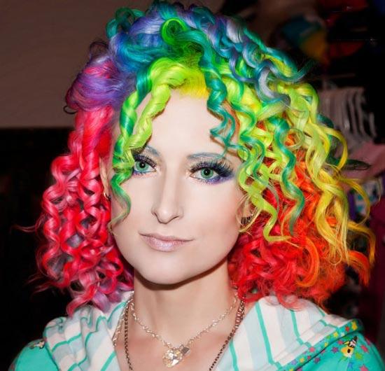 مدل موی رنگین کمانی - موی هفت رنگ