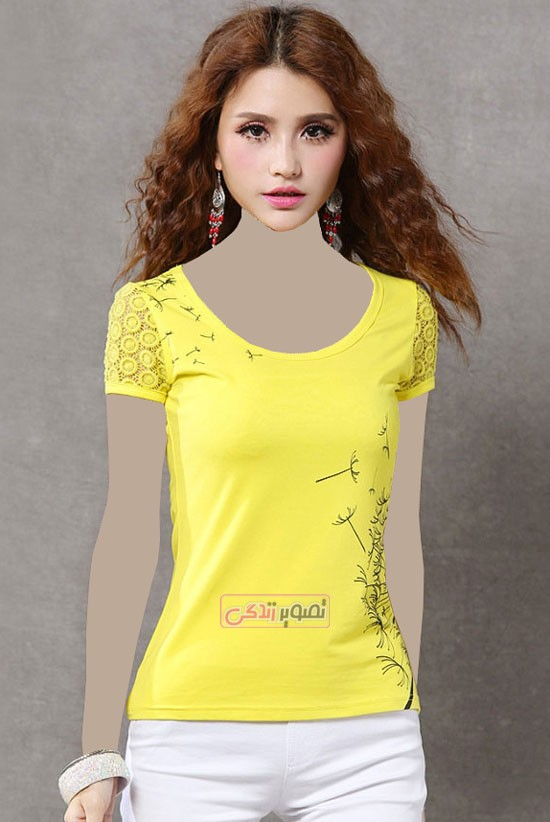 مدل تی شرت دخترانه - مدل جدید تی شرت