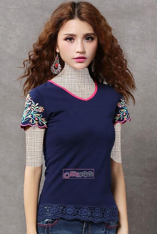 تی شرت دخترانه - تی شرت زنانه - مدل جدید تی شرت