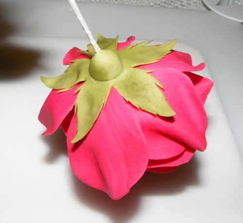 آموزش گل سازی  , آموزش تصویری ساخت گل رز خمیری