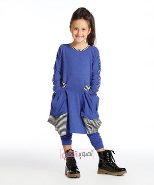 پیراهن پاییزی دخترانه - لباس بچگانه