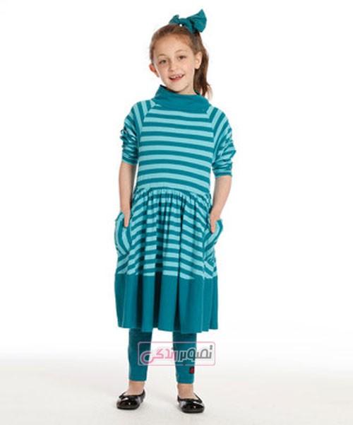 پیراهن دخترانه پاییزی - لباس بچگانه