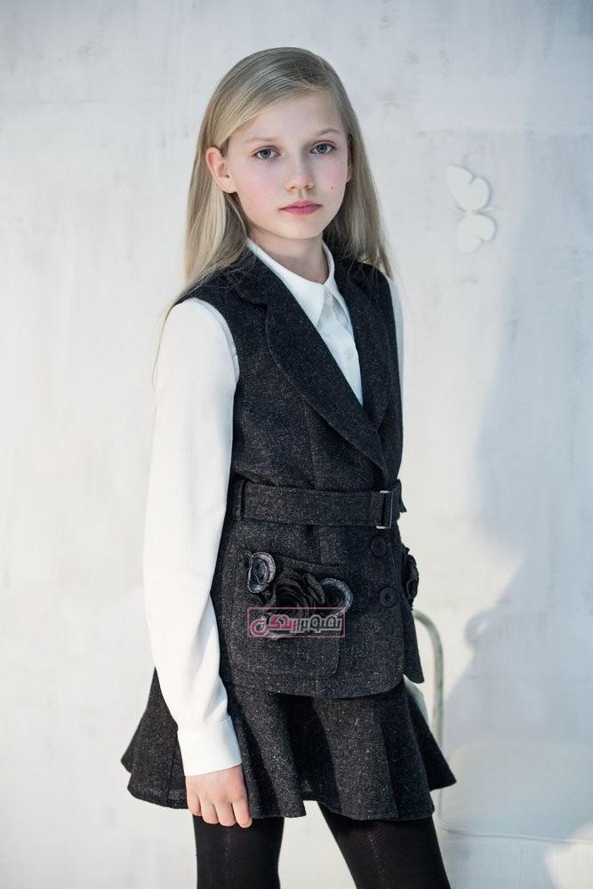 مدل جلیقه دامن پاییزی دخترانه - لباس پاییزه دخترانه