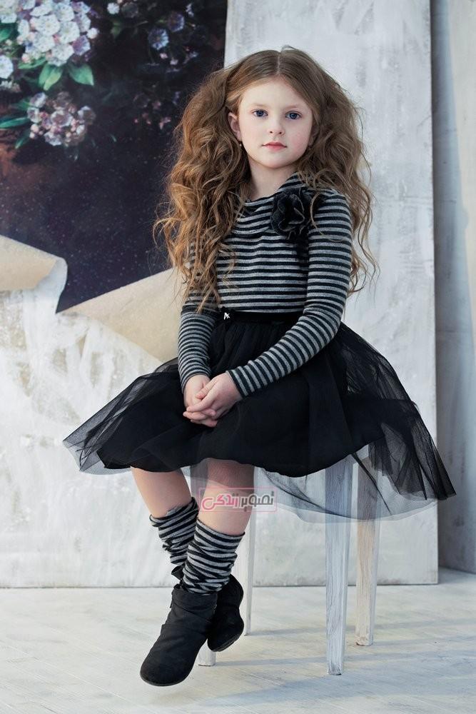 مدل لباس پاییزی دخترانه - بلوز دامن پاییزه دخترانه