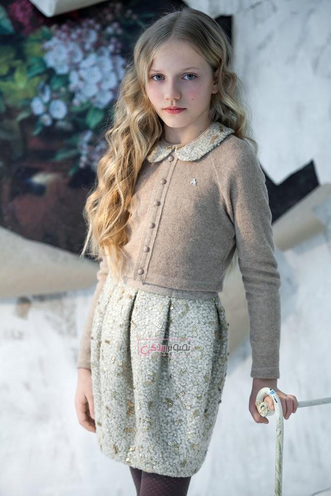 مدل کت و دامن دخترانه - مدل لباس پاییزه دخترانه