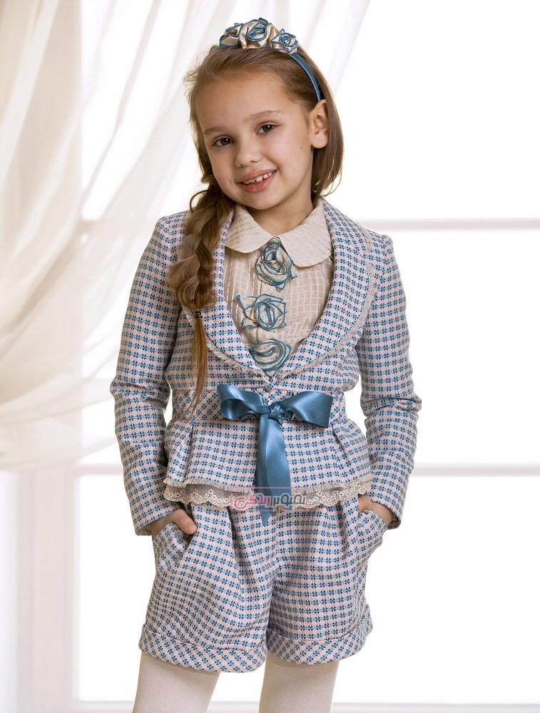 مدل کت و شلوارک پاییزی دخترانه - لباس پاییزه دخترانه