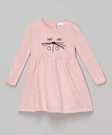 پیراهن دخترانه پاییزی - مدل پیراهن تریکو دخترانه