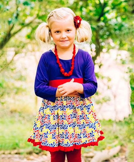پیراهن دخترانه پاییزی - مدل لباس دخترانه