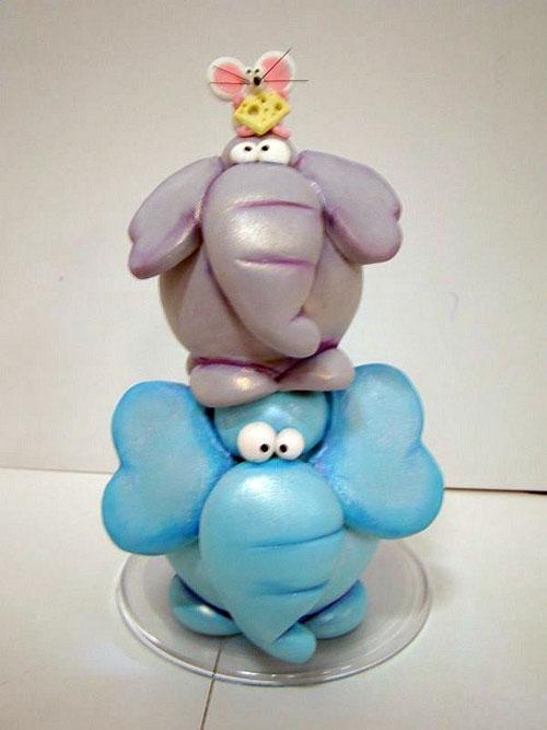 عروسک خمیری - مجسمه های خمیری - مجسمه گل چینی