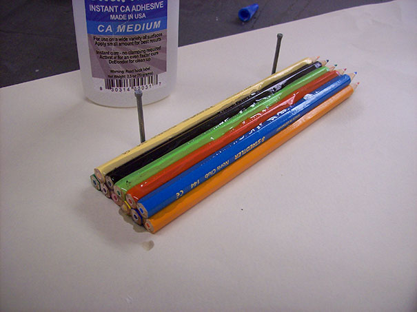 درست کردن حلقه با مداد رنگی