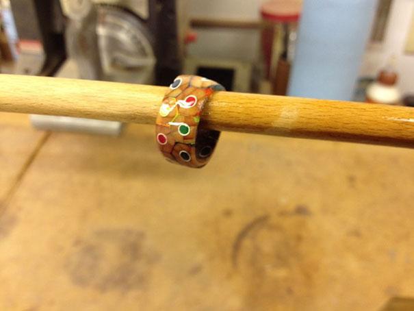 ساخت حلقه با مداد رنگی