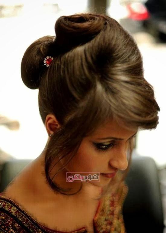 مدل شینیون مو - مدل موی مجلسی - آرایش موی دخترانه