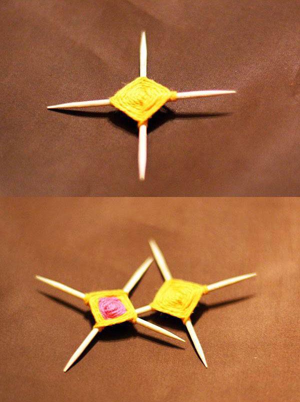 آموزش تصویری ساخت سنجاق سینه ماندالا