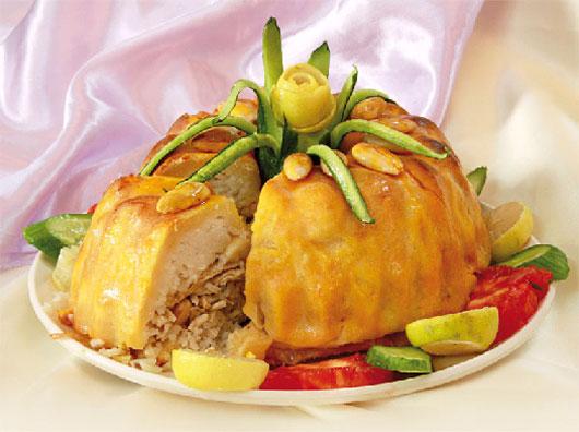 طرز تهیه کیک برنج با مرغ