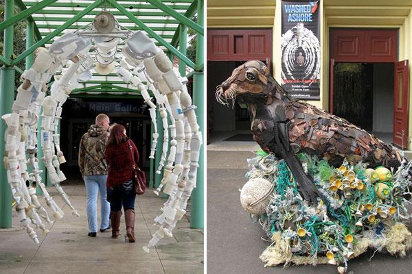 مجسمه هایی از زباله های پلاستیکی - هنر بازیافت
