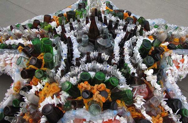 مجسمه هایی از زباله پلاستیکی - هنر بازیافت