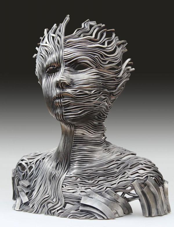 مجسمه های باشکوه از نوارهای فولادی اثر گیل بروول هنرمند استرالیایی