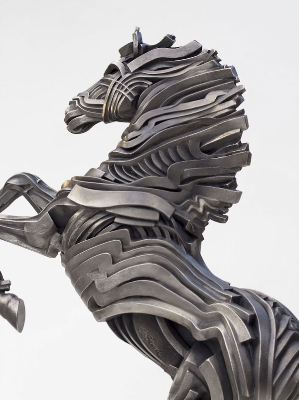 مجسمه های منحصر بفرد فولادی اثر گیل بروول هنرمند استرالیایی