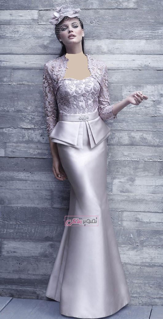 مدل لباس مجلسی - کت و دامن ساتن