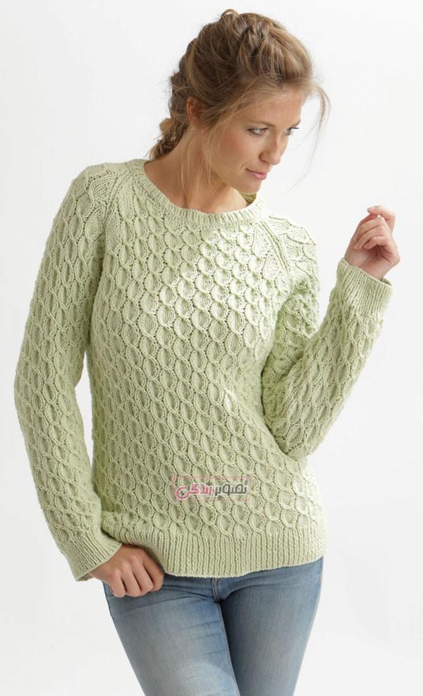 مدل بلوز بافتنی - بلوز دستباف - مدل لباس بافتنی دخترانه