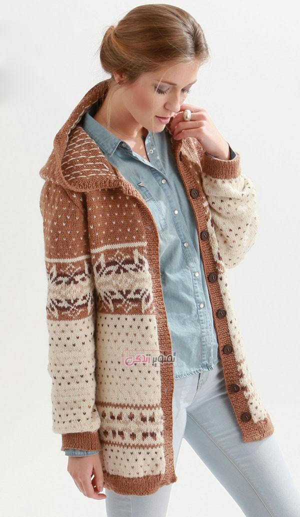 مدل ژاکت بافتنی - بلوز دستباف - مدل لباس بافتنی