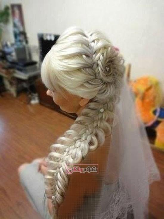 آرایش موی عروس - شینیون موی عروس