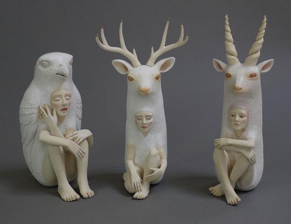 مجسمه های متفکرانه کریستال موری