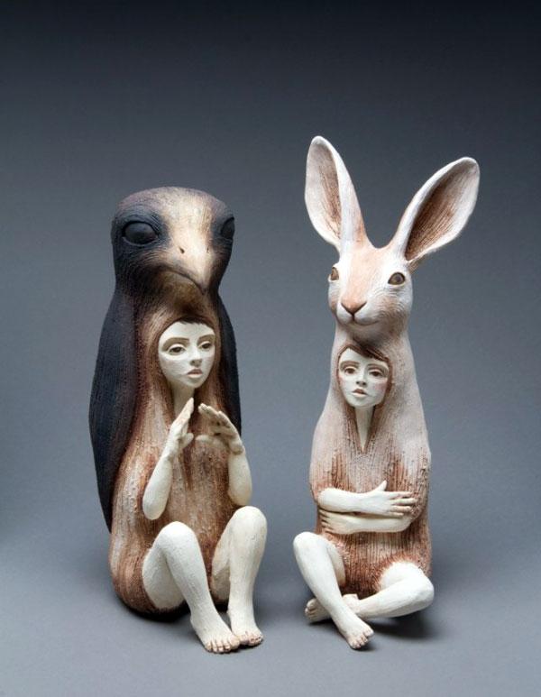 مجسمه های خلاقانه کریستال موری