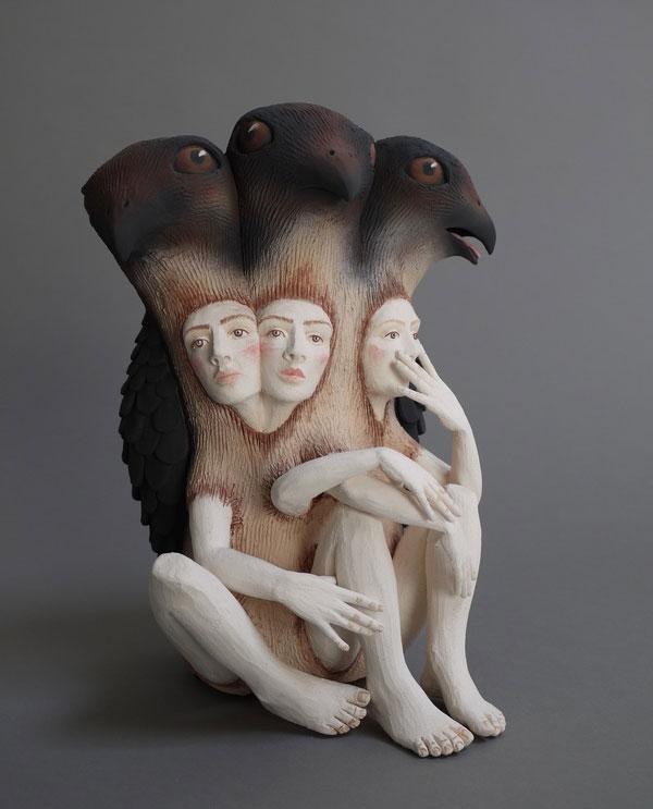 مجسمه های سرامیکی زیبای کریستال موری