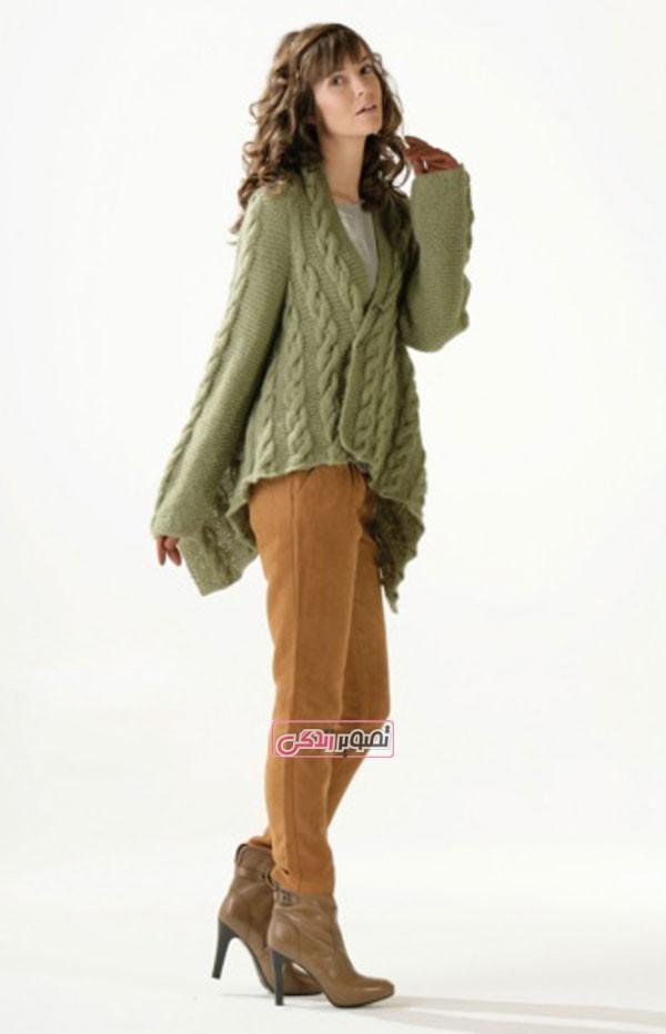 مدل لباس دستباف زنانه - ژاکت بافتنی