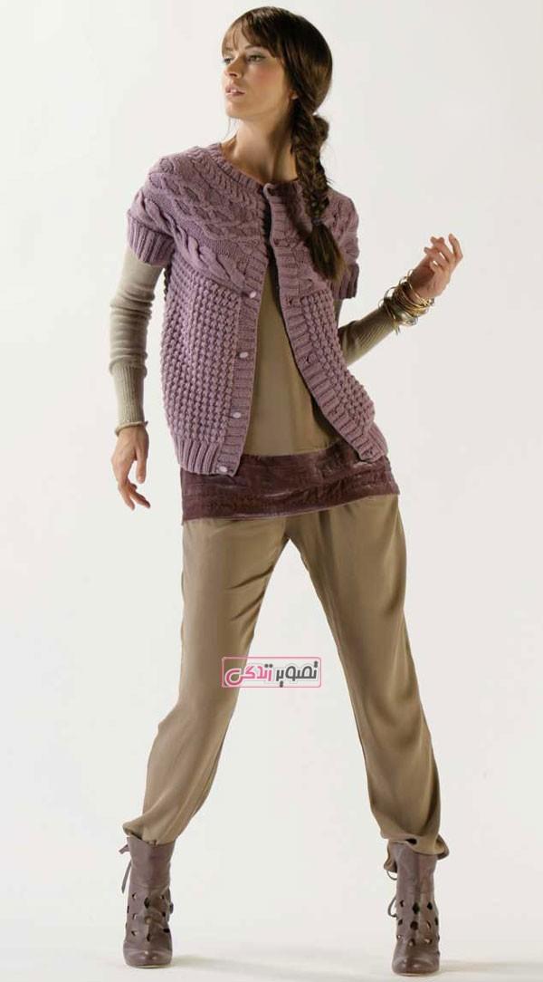 مدل لباس دستباف زنانه - ژاکت بافتنی - جلیقه دستباف