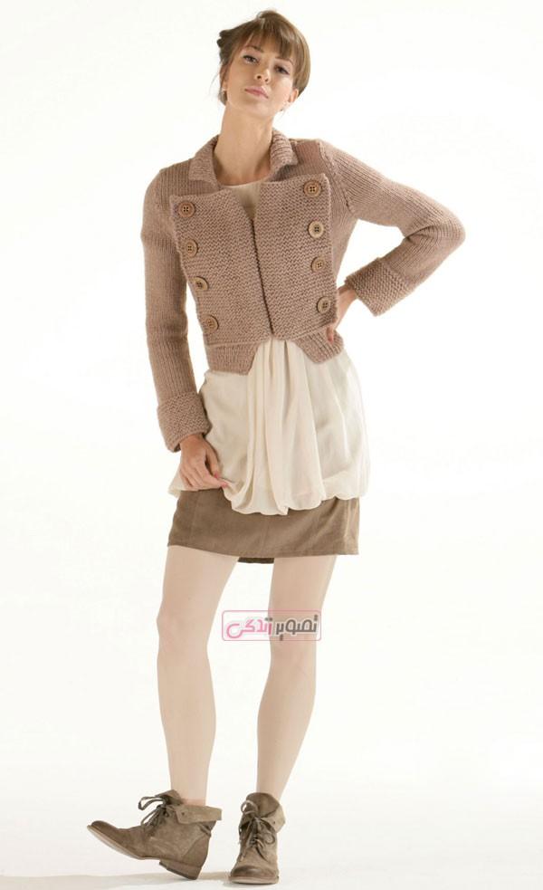 مدل لباس دستباف دخترانه - مدل ژاکت بافتنی