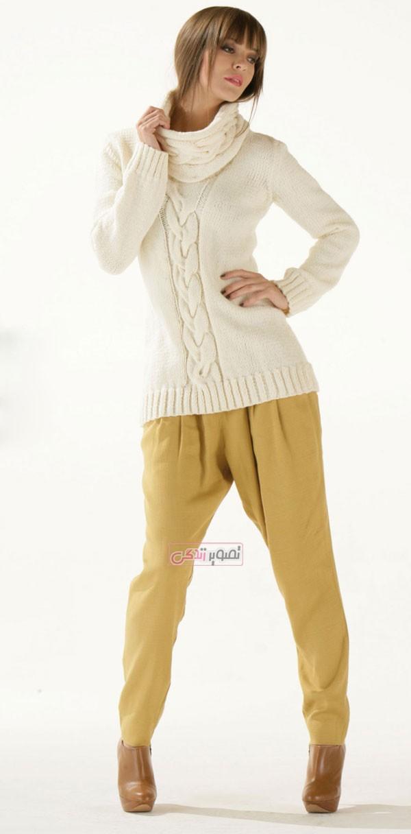 مدل لباس دستباف زنانه - پلیور بافتنی
