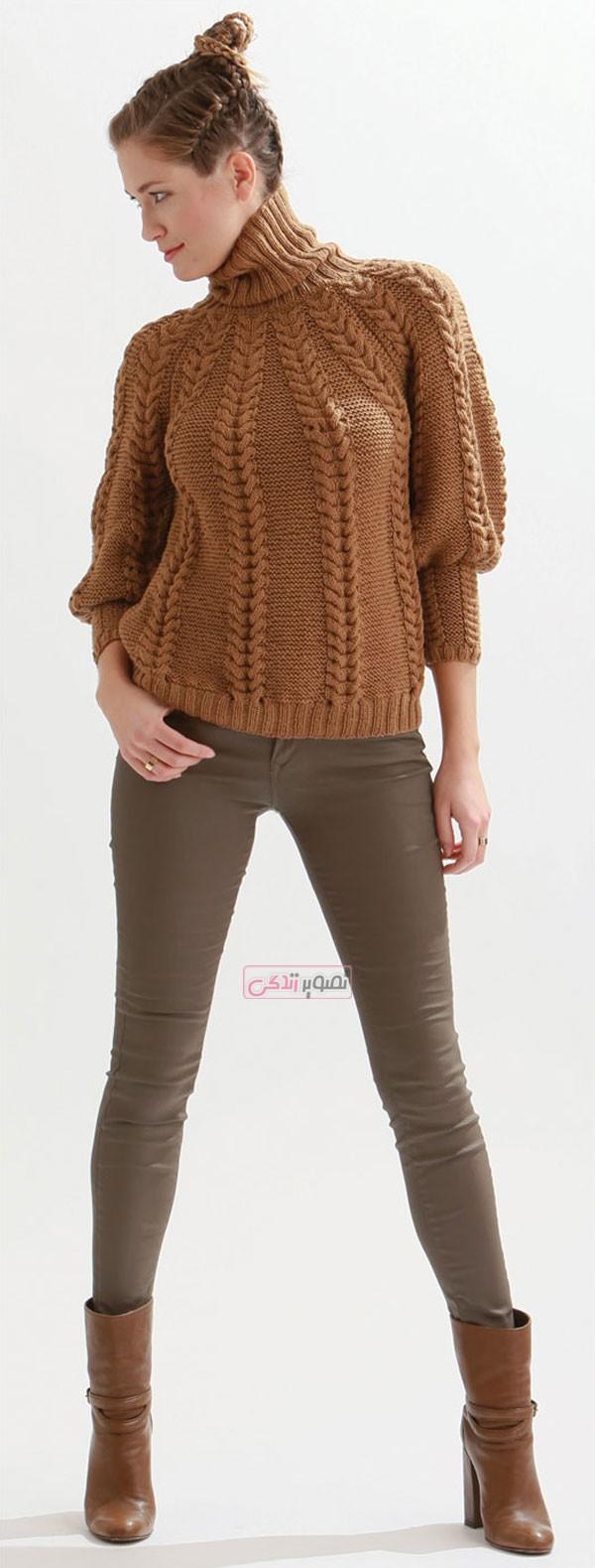 مدل لباس دستباف زنانه - لباس بافتنی دخترانه - مدل لباس زمستانی