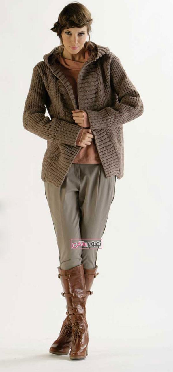 مدل لباس دست باف زنانه - لباس بافتنی - لباس زمستانی