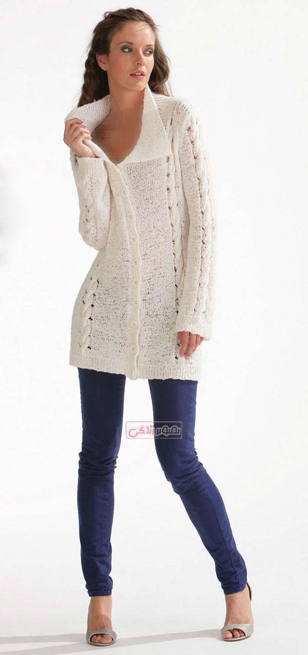 مدل لباس دستباف زنانه - لباس بافتنی - لباس زمستانی