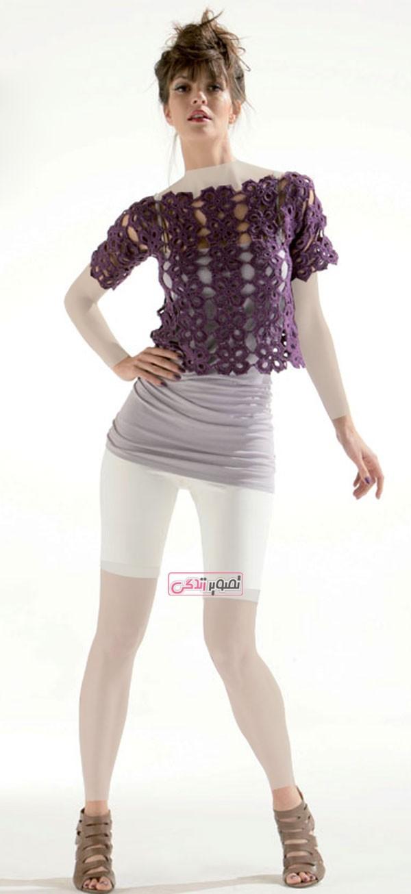 مدل لباس قلاب بافی - لباس بافتنی - لباس زمستانی