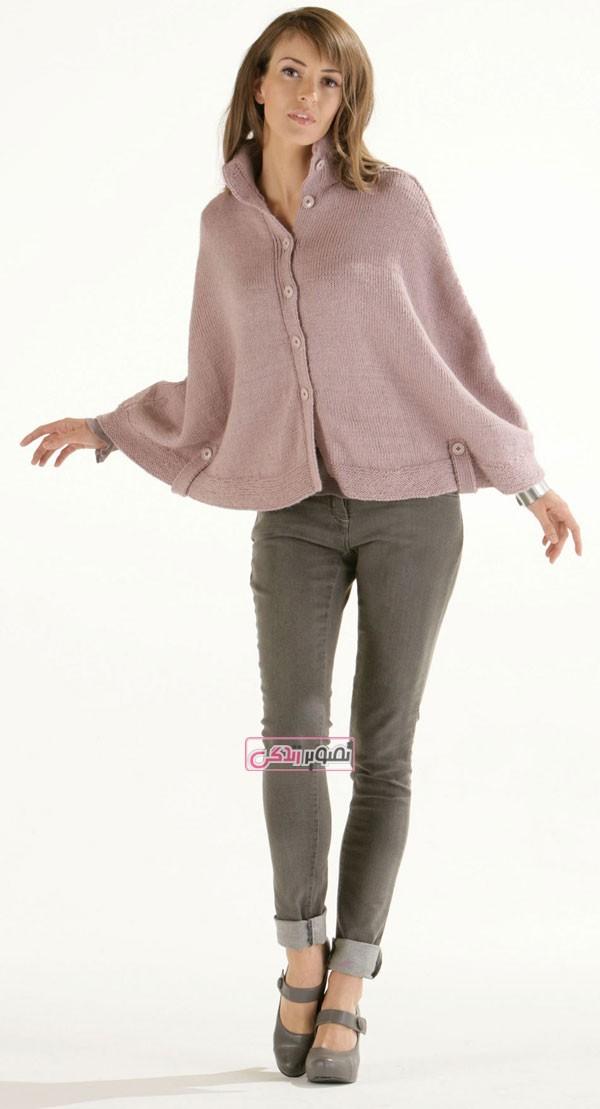 مدل شنل دستباف زنانه - لباس بافتنی - لباس زمستانی