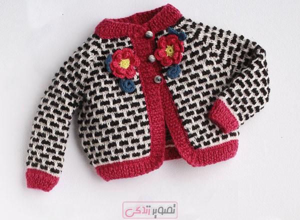 ژاکت بافتنی بچه گانه - سیسمونی بافتنی - لباس دستباف بچگانه