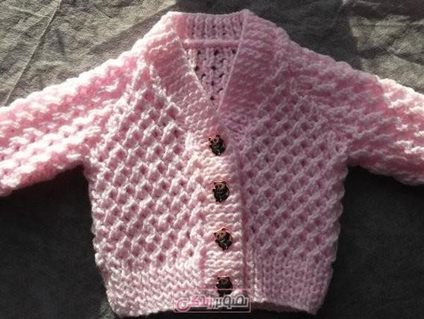 ژاکت بافتنی بچگانه - سیسمونی بافتنی - لباس دستباف بچگانه