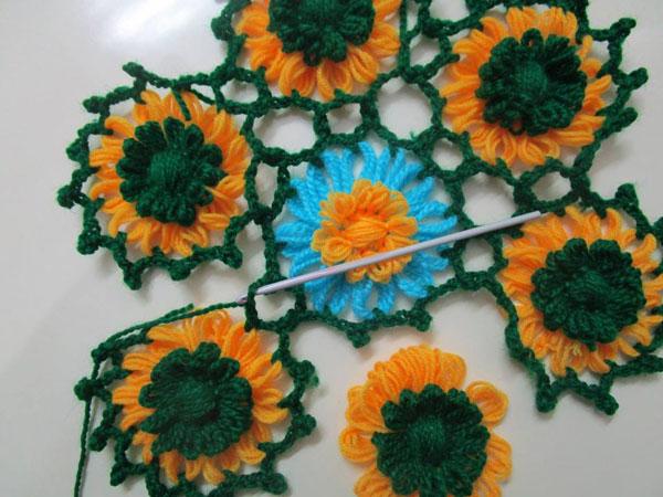 آموزش بافت گل با دستگاه موتیف - فیلم آموزش بافت با دستگاه گل بافی