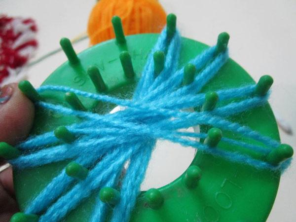 آموزش قلاب بافی - بافت گل با دستگاه موتیف