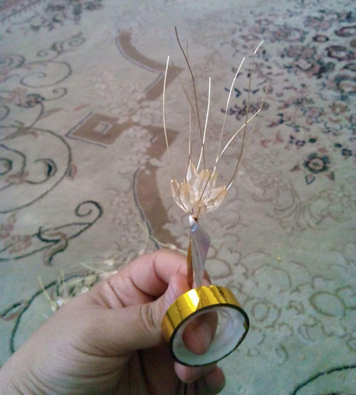 آموزش ساخت شاخه گندم با کریستال گندمی