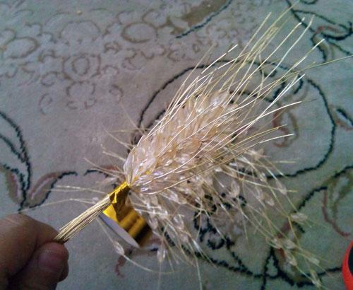 آموزش ساخت شاخه گندم کریستالی