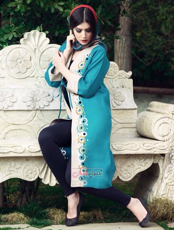 مدل مانتو کرب باربی مدل مانتو زنانه ایرانی سنتی برند شهرزاد.