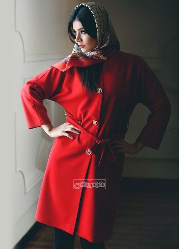 مدل مانتو 94 - مدل مانتو قرمز - مانتو دخترانه